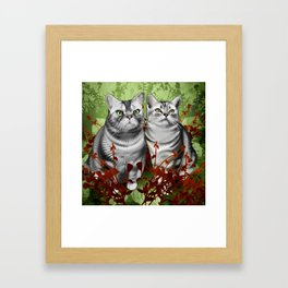 Perry and Monty Framed Art Print