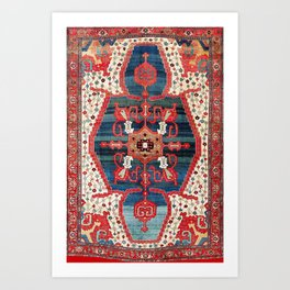 Bakhshaish Azerbaijan Northwest Persian Rug Print Art Print
