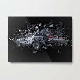 The DeLorean Metal Print