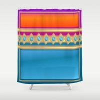 decorative Shower Curtains featuring Decorative by elledeegee
