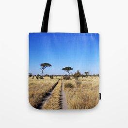 Path through Africa - Central Kalahari, Botswana Tote Bag