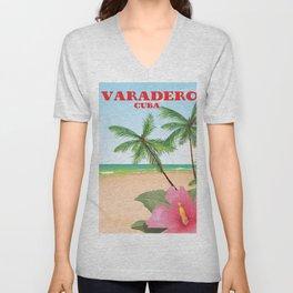 Varadero Cuba travel poster Unisex V-Neck