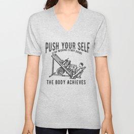 Push Your Self Unisex V-Neck