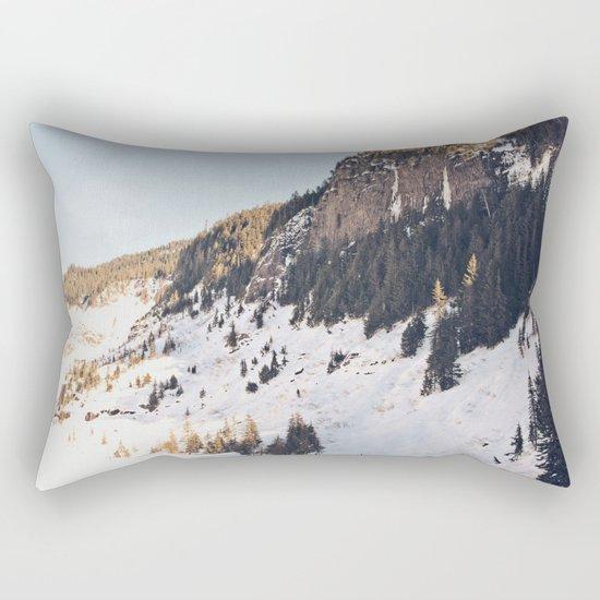 Mountain Snow in the Sun Rectangular Pillow