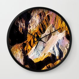 Artist Palette in California's Death Valley National Park. Wall Clock