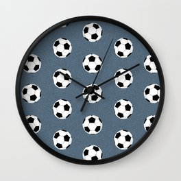 Soccer pattern great decor print for nursery boys or girls rooms sports theme Wall Clock