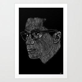 Malcom X Art Print