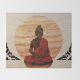 Buddha marquetry Throw Blanket