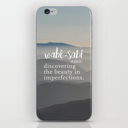 Wabi Sabi Word Nerd Definition - Mountains iPhone Skin