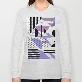 Shape Central - Geometric Abstract Pattern Long Sleeve T-shirt