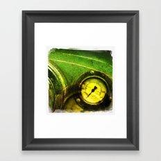 green dial Framed Art Print