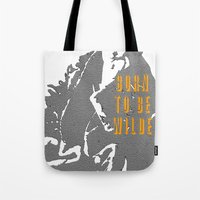 oscar wilde Tote Bags featuring Lady Oscar Wilde by pruine