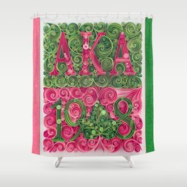 Alpha Kappa Alpha 1908 Shower Curtain