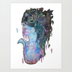 moth effect Art Print
