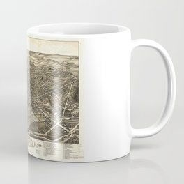 Aerial View of Akron, Ohio (1882) Coffee Mug
