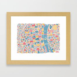 Cologne City Map Poster Framed Art Print