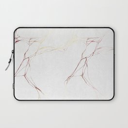 Rose Gold White Marble Pattern Laptop Sleeve