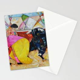 One Quite Un Quite Oil on Canvas Original Juan Manuel Rocha Kinkin Stationery Cards