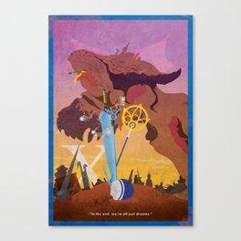 Vintage FF Poster X Canvas Print