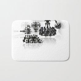 White room - black chandeliers. Bath Mat
