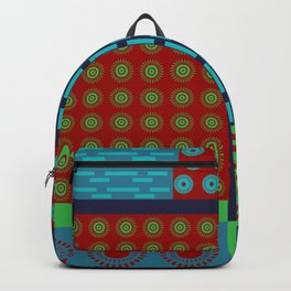 Japanese Style Colorful Patchwork Backpack