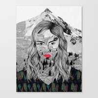 cara Canvas Prints featuring Cara by Veronique de Jong · illustration
