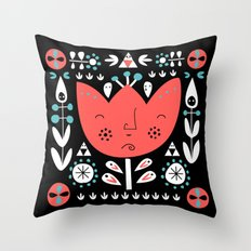 Folksy - Night Throw Pillow