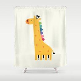 Giraffe Piano Shower Curtain