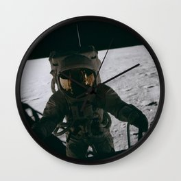 Apollo 12 - Astronaut Down The Ladder Wall Clock