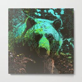 Grizzly Nature Metal Print