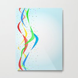 Confetti Surprise Metal Print