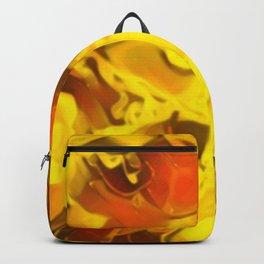 Honey Glaze - gold orange red abstract swirl pattern Backpack