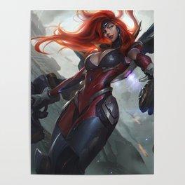 Gun Goddess Miss Fortune League Of Legends Poster