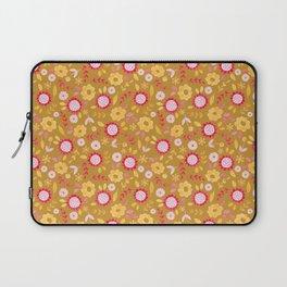 Autumn floral - mustard, ochre Laptop Sleeve