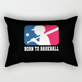 Baseball Player Baseball Baseball Rectangular Pillow