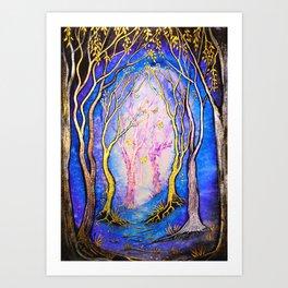 Trees - Towards the Light Art Print