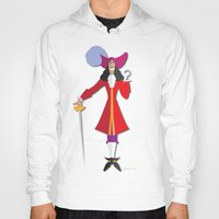 hook Hoodies featuring Captain Hook by AmadeuxArt