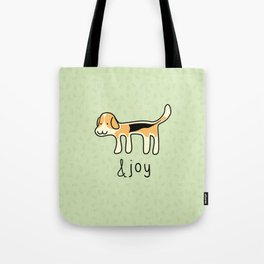 Cute Beagle Dog &joy Doodle Tote Bag
