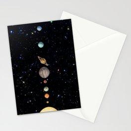 Planetary Solar System Stationery Cards