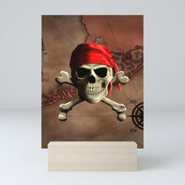 The Jolly Roger Pirate Map Mini Art Print