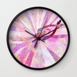Sleeping Ballerina Floral Wall Clock