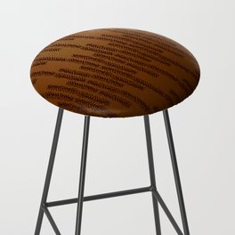Eye of the Magpie tribal style pattern - bronze Bar Stool