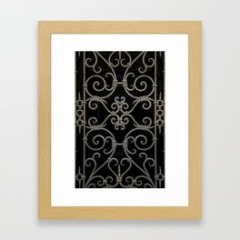 Pretty ornamented gate Framed Art Print