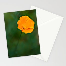 Green and Gold Stationery Cards