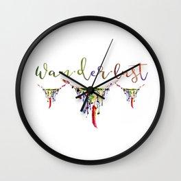 Wanderlust watercolor Wall Clock