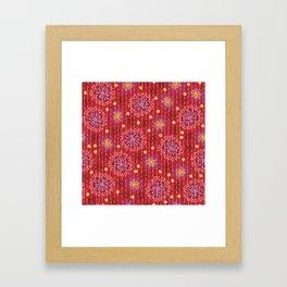 Kantha floral 5 Framed Art Print