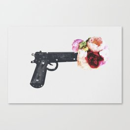 Flowers, Not Bullets Canvas Print