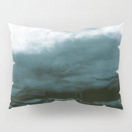 WHITE & BLUE & BLACK TOUCHING #1 #abstract #decor #art #society6 Pillow Sham