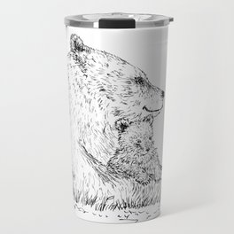 Mom and Baby Grizzly Bear Travel Mug