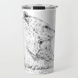 Mom and Baby Grizzly Bear Travel Mug